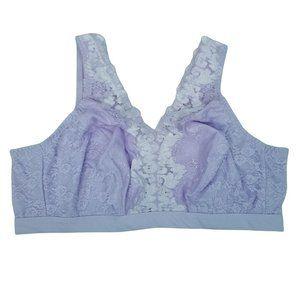 Breezies Bralette Lace Neckline Lilac 3X P4149